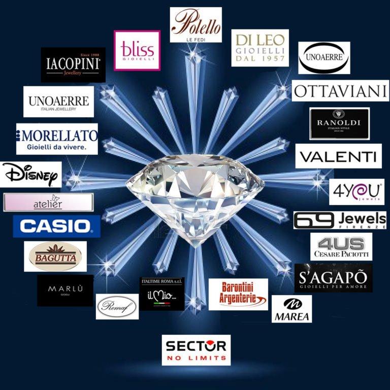 marchi di SG ori argenti e diamanti