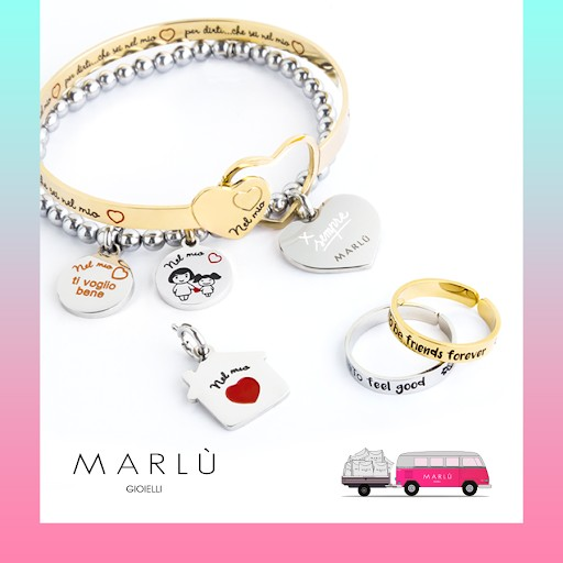 Bracciale rigido acciaio braccialetto dedica per nonna incisione oro rosè Marlù